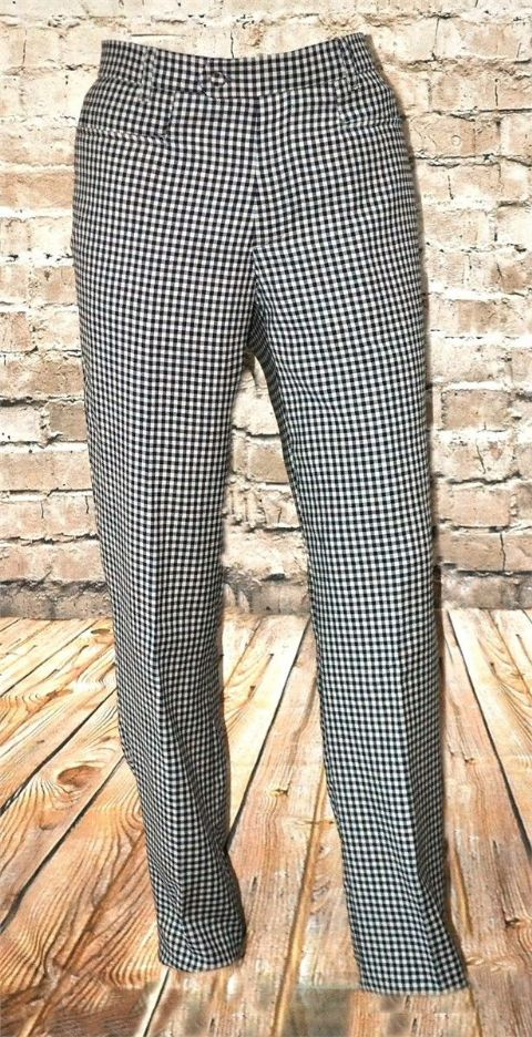 "THE ""ANGULO"" 100% GINGHAM CHECK NAVY & TAUPE TROUSER"
